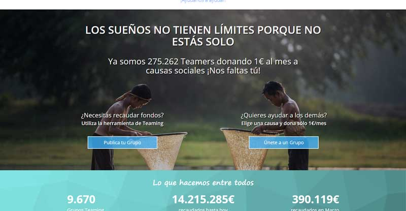 proyecto de crowdfunding teaming