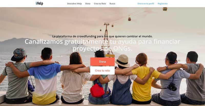 iHelp  web de Crowdfunding Solidario